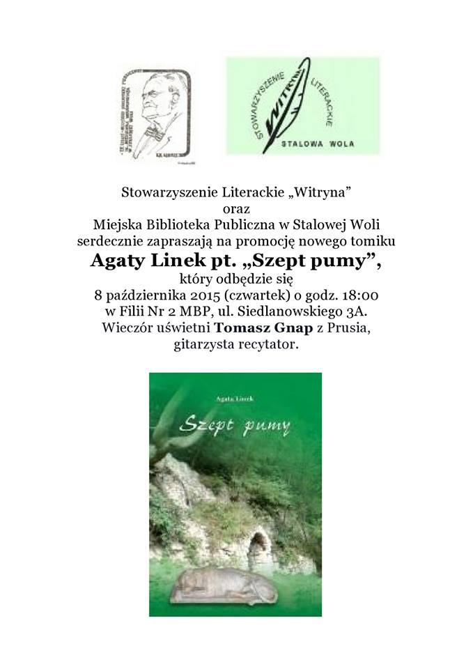 """""""Szept pumy"""" czyli czwarty tomik poezji Agaty Linek"""