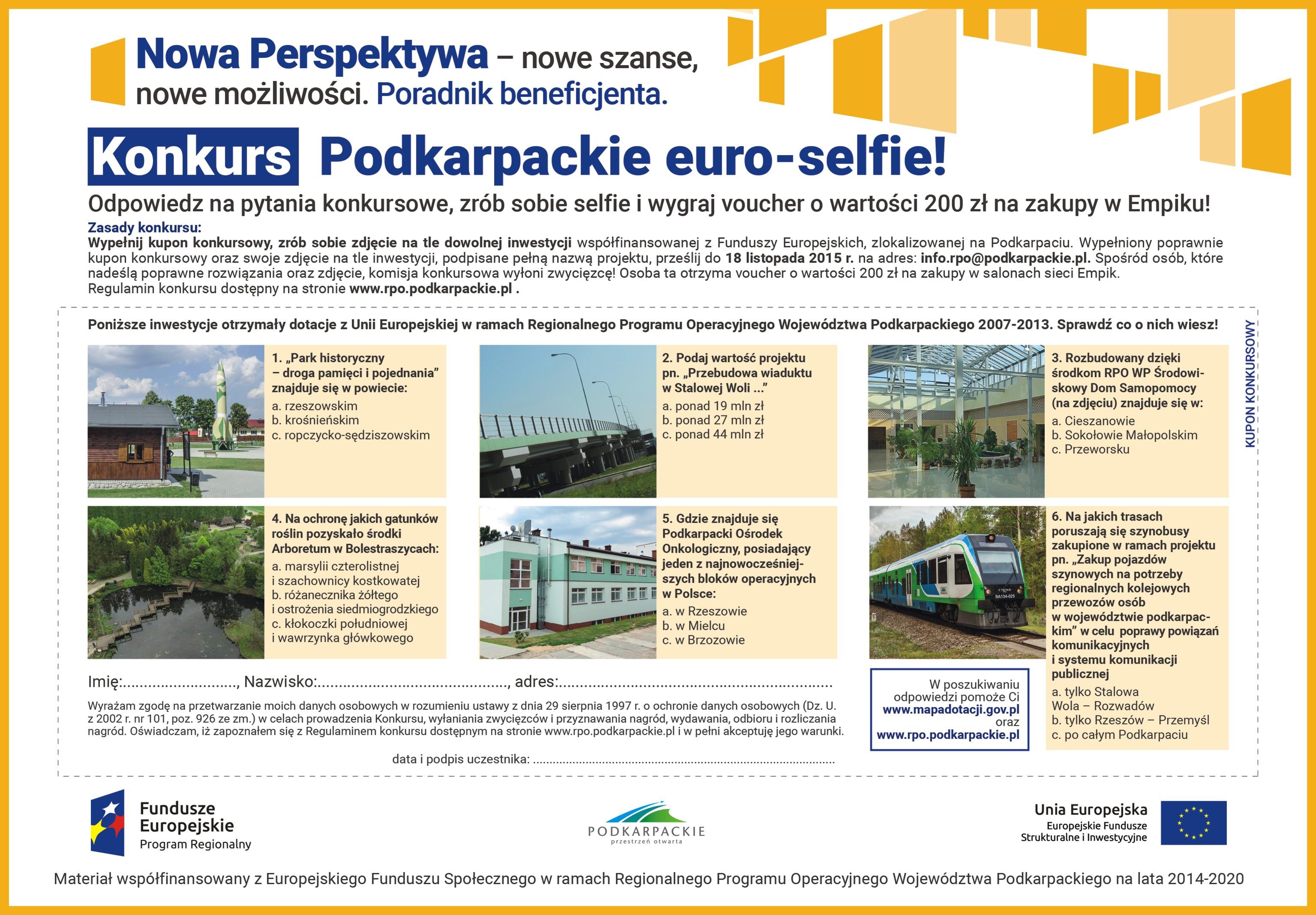 Konkurs –Podkarpackie euro-selfie!