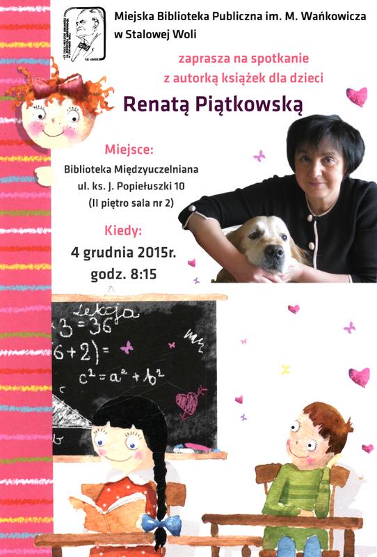 Renata Piątkowska opowie dzieciom o swoich książkach