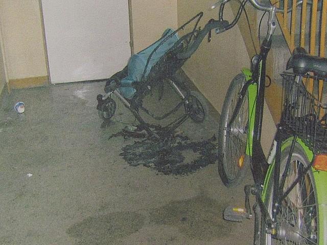 Podpalił wózek - został zatrzymany