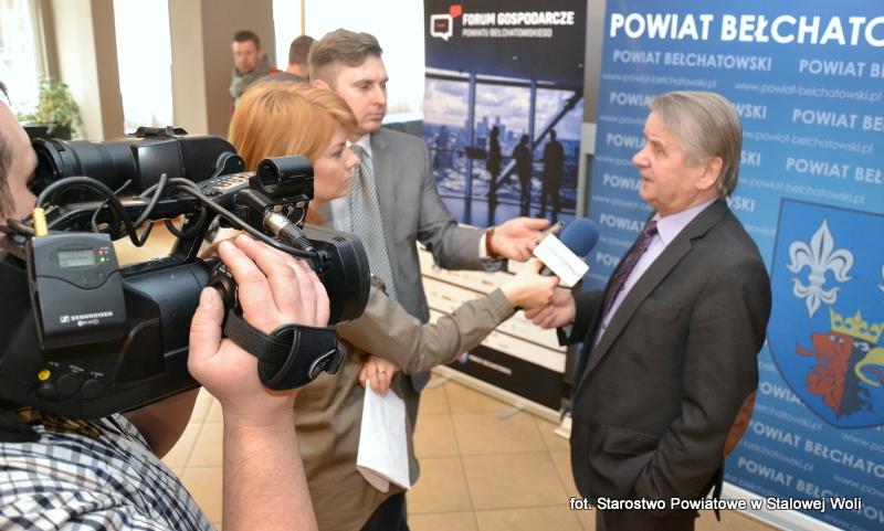 Głos stalowowolskich przedsiębiorców w Bełchatowie