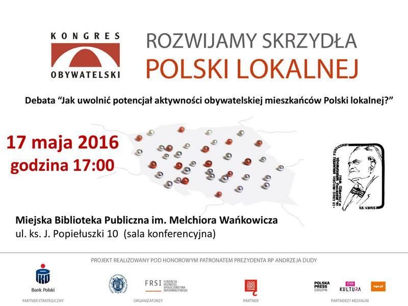 """Debata lokalna - """"Rozwijamy Skrzydła Polski Lokalnej"""""""