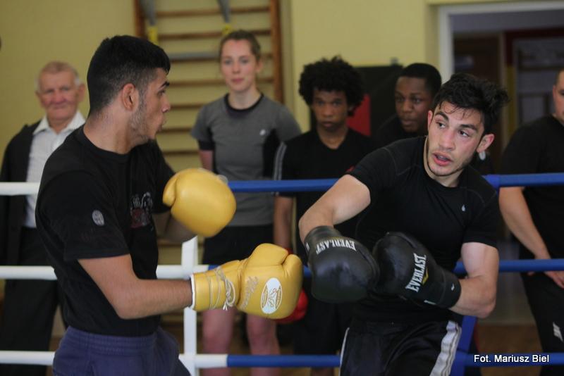 Bokserzy z Anglii i Francji trenują z zawodnikami Ringu Sikorski Stalowa Wola