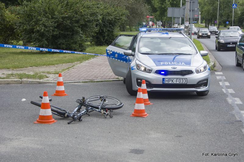 Wypadek w Stalowej Woli. Ranny rowerzysta