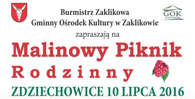 Malinowy Piknik w Zdziechowicach