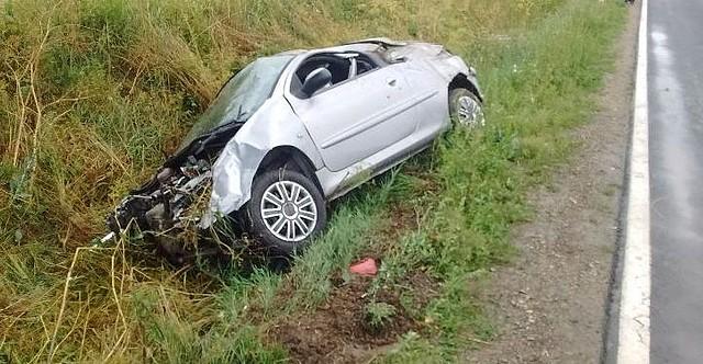 Kierowca peugeota trafił do szpitala