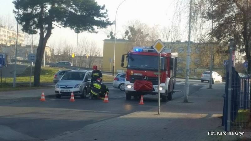 Potrącenie rowerzysty na ulicy Handlowej