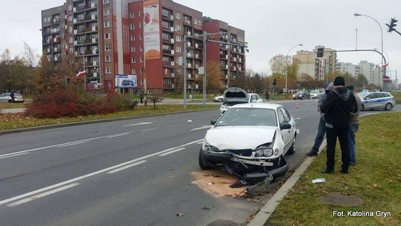 Wypadek z udziałem trzech aut w Stalowej Woli