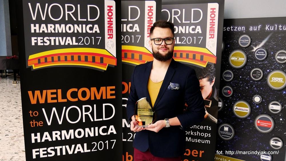 Marcin Dyjak laureatem World Harmonica Festival 2017