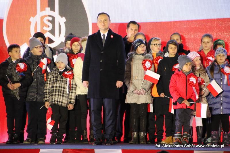 Mieszkańcy świętowali z prezydentem Andrzejem Dudą
