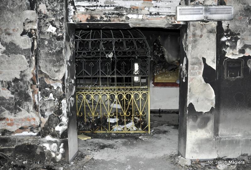 Spłonął budynek leżajskiego ohelu
