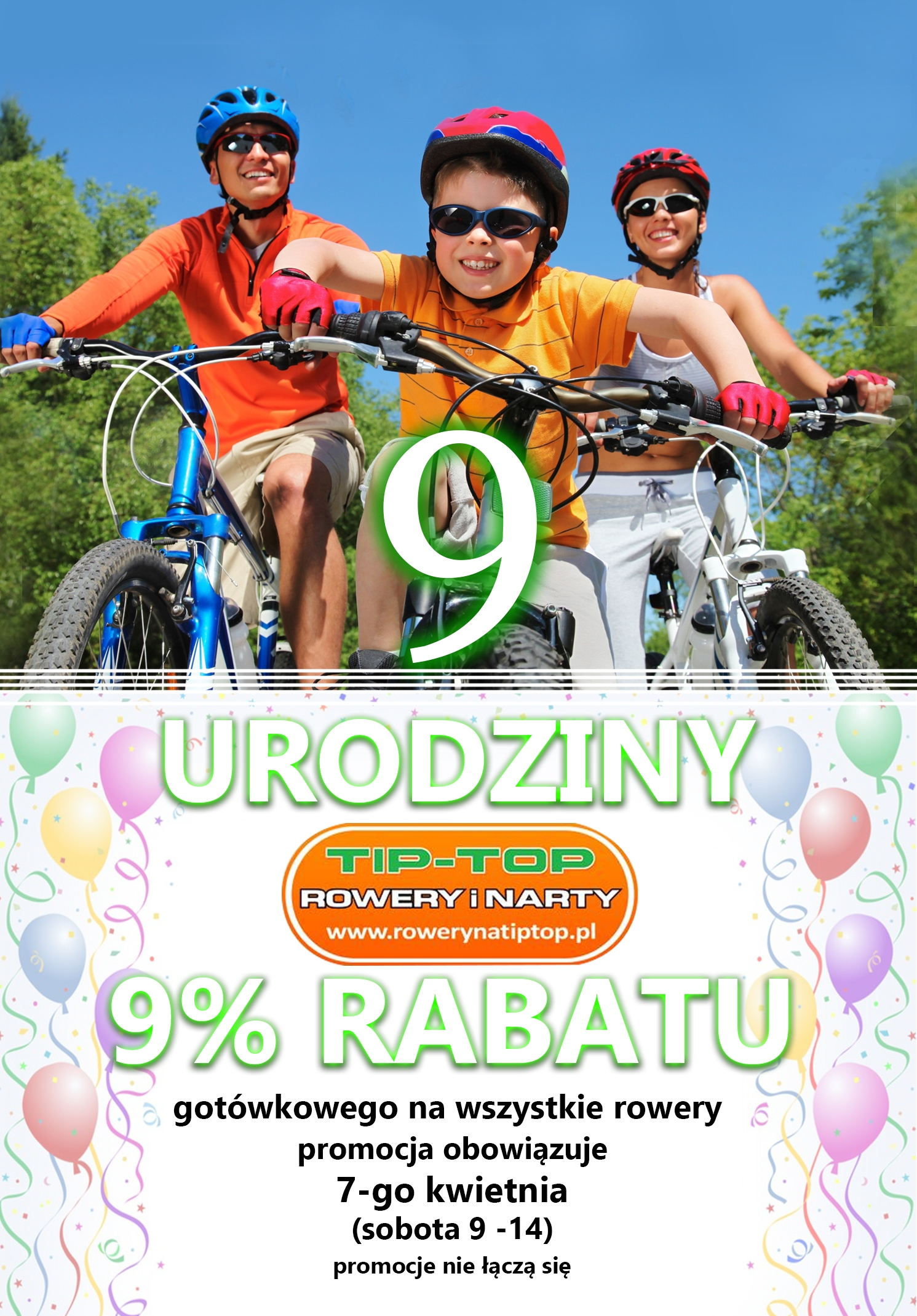 9. urodziny sklepu rowerowego TIP-TOP