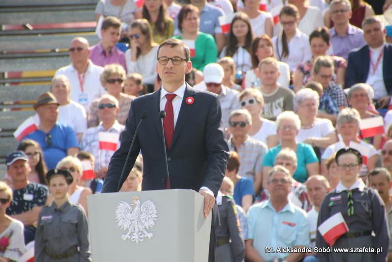 Obchody Święta Flagi z udziałem premiera Mateusza Morawieckiego