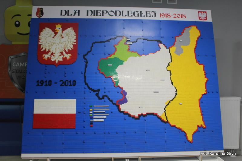 Z klocków LEGO wybudowali mapę Polski