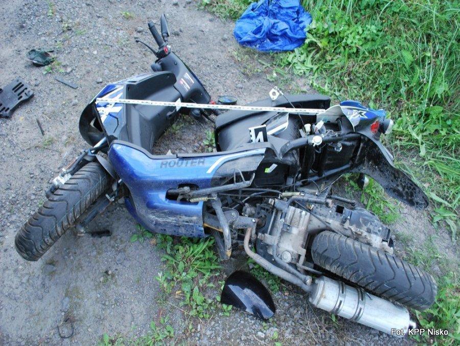 Nisko: Motorowerzysta ucierpiał w wypadku