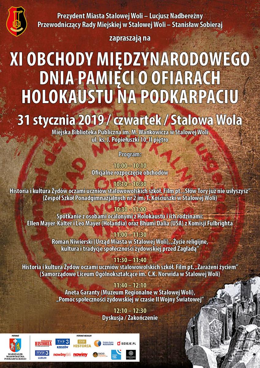 Stalowa Wola: Międzynarodowy Dzień Pamięci o Ofiarach Holokaustu