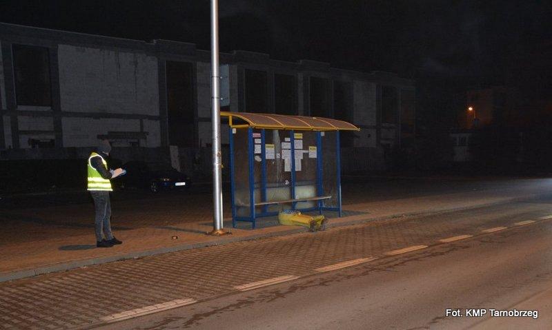 Tarnobrzeg: 21-latek uszkodził przystanek autobusowy i znak drogowy