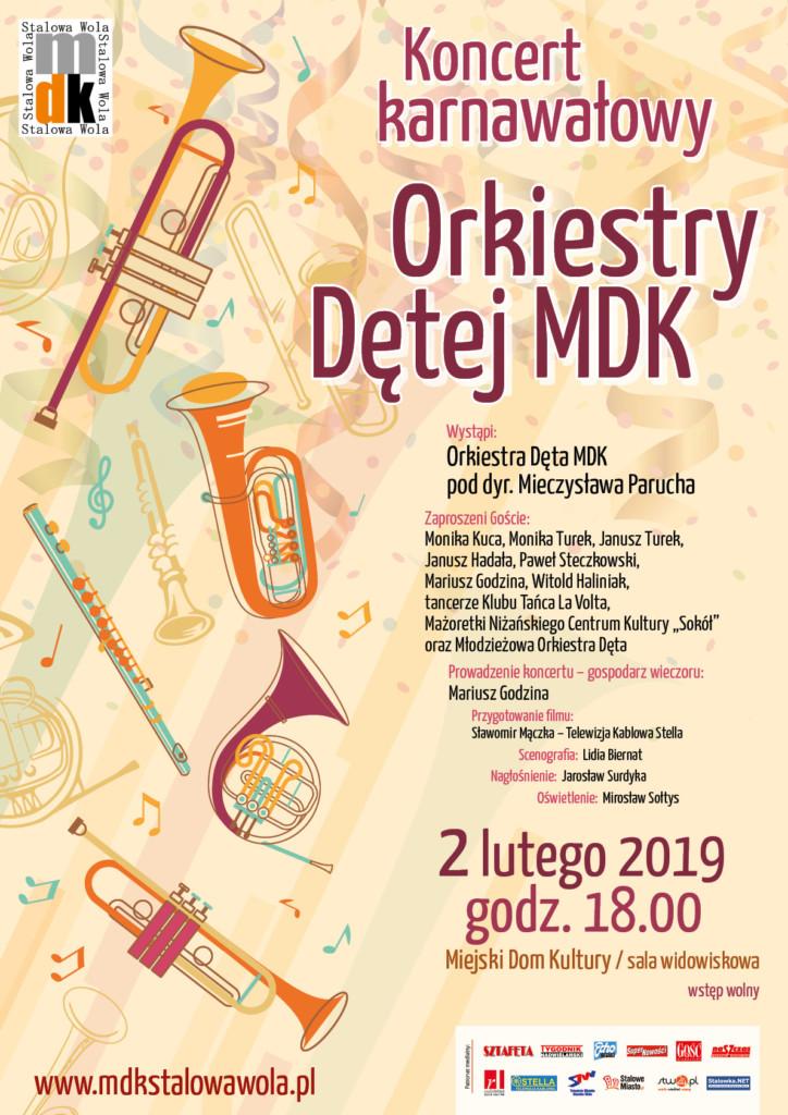 Koncert karnawałowy Orkiestry Dętej MDK