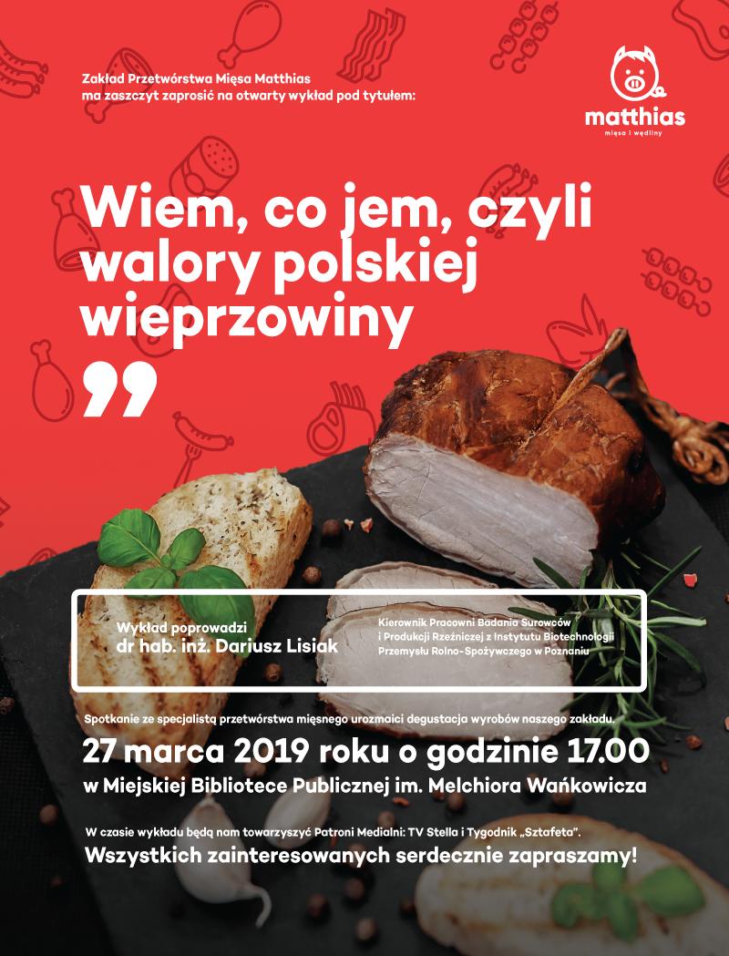 Wiem co jem, czyli walory polskiej wieprzowiny