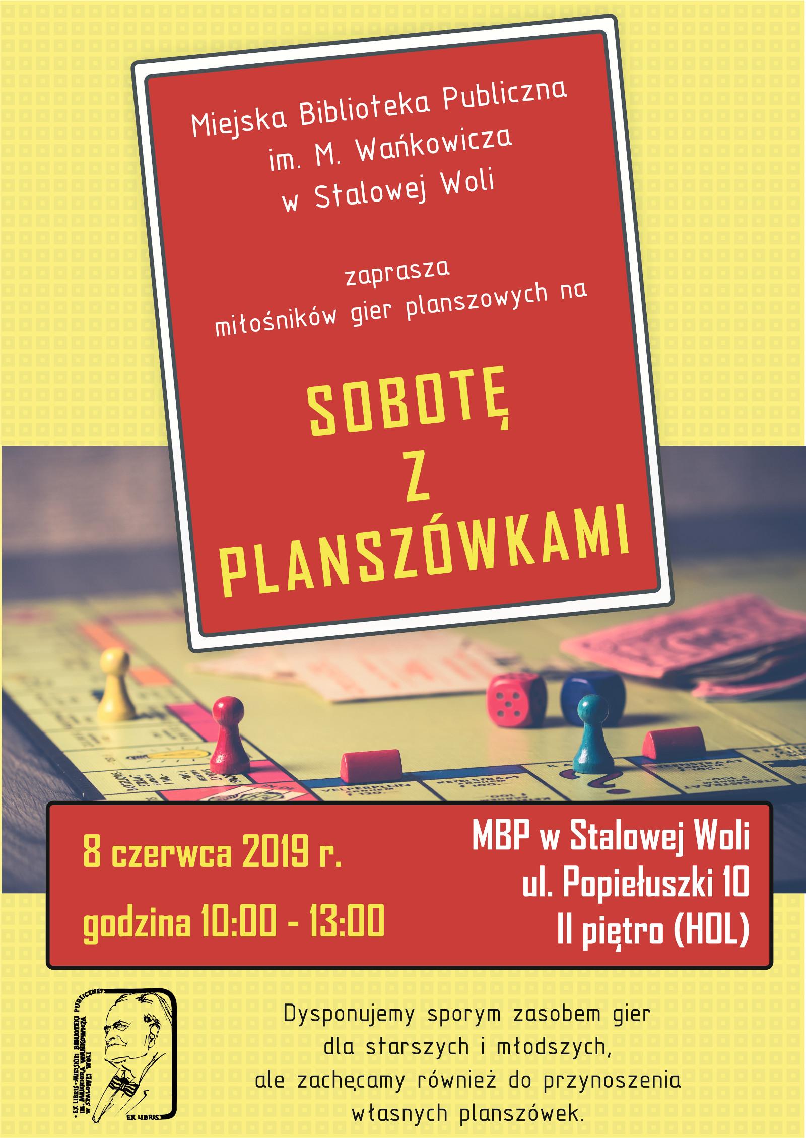 Sobota z planszówkami w stalowowolskiej bibliotece