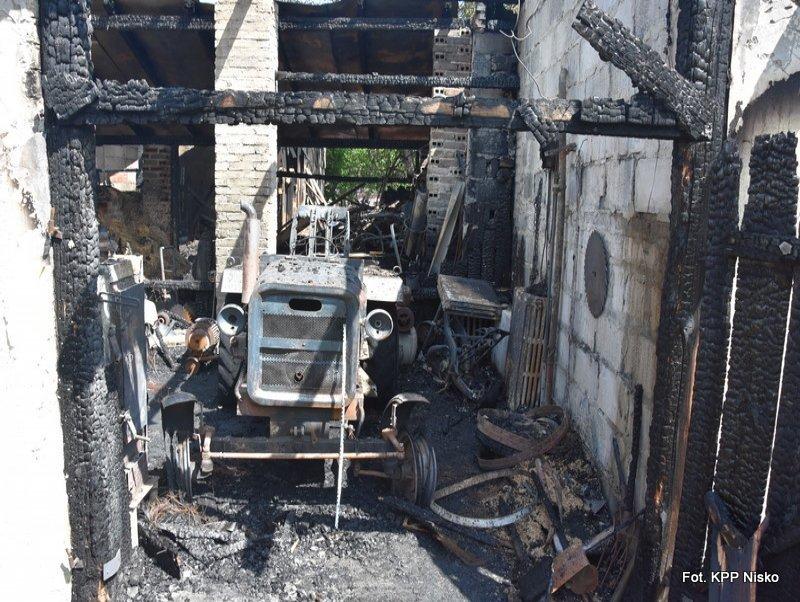 Nowosielec: Pożar budynków gospodarczych