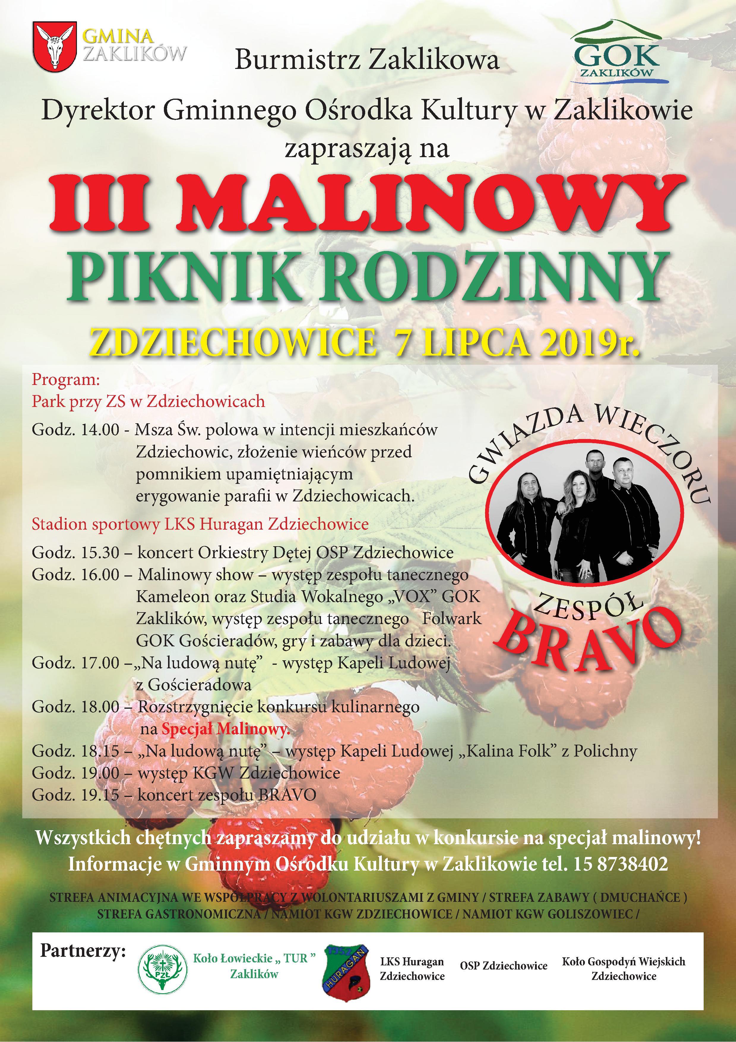 Malinowa impreza w Zdziechowicach