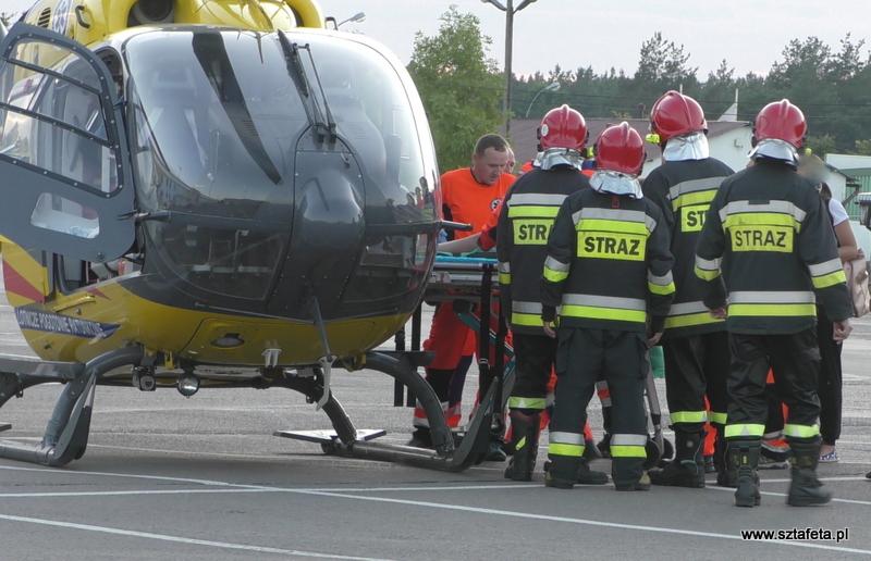 Śmigłowiec zabrał rannego rowerzystę