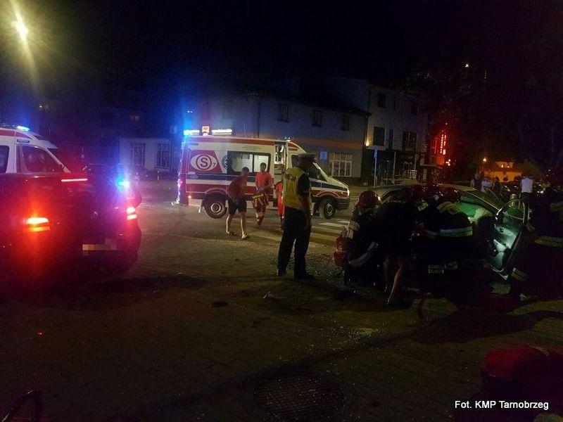 Wypadek w Tarnobrzegu. 39-latek trafił do szpitala