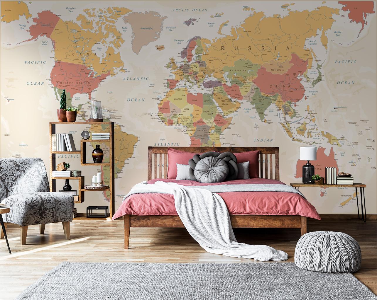 Fototapeta z mapą do Twojego domu – jaką wybrać?