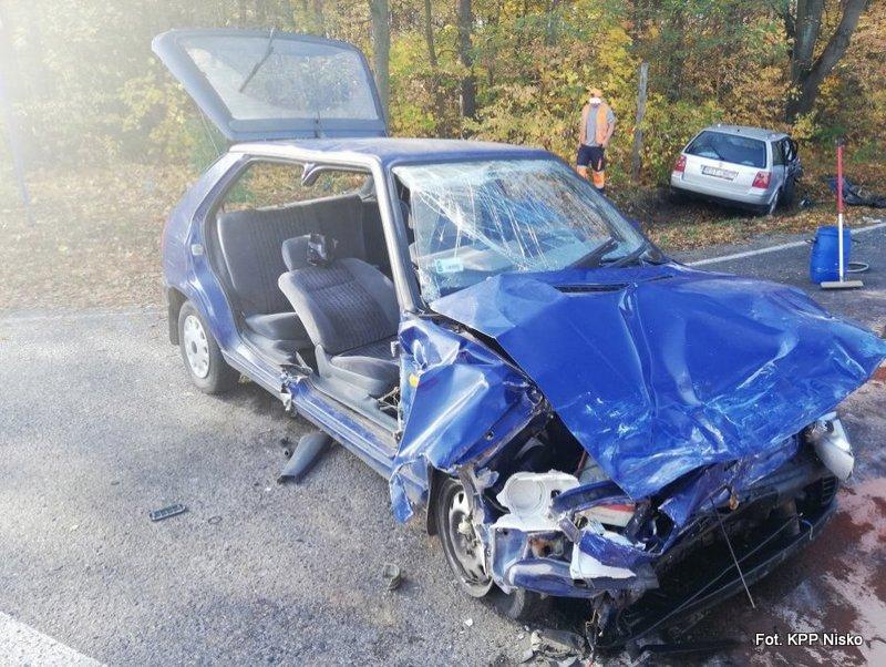 Wypadek na skrzyżowaniu w Kopkach
