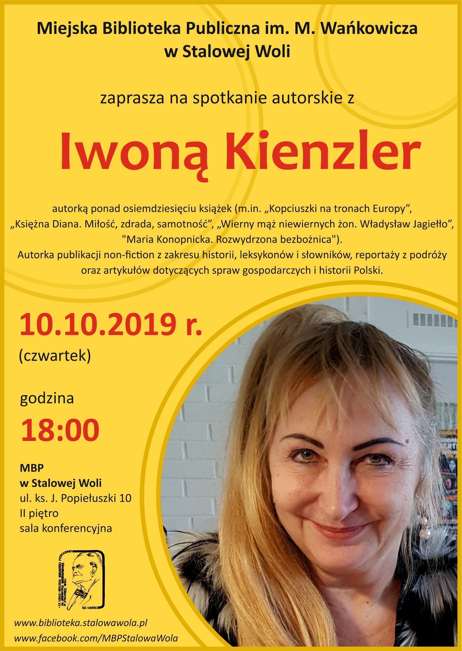 Spotkanie autorskie z Iwoną Kienzler