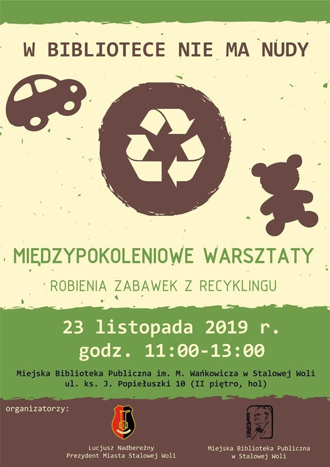 Stalowa Wola: Zrób recyklingowe zabawki w MBP