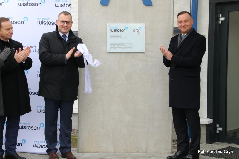 Otwarcie hali ARP w Stalowej Woli z udziałem prezydenta Andrzeja Dudy