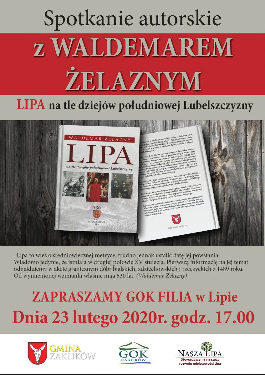 Spotkanie autorskie z Waldemarem Żelaznym