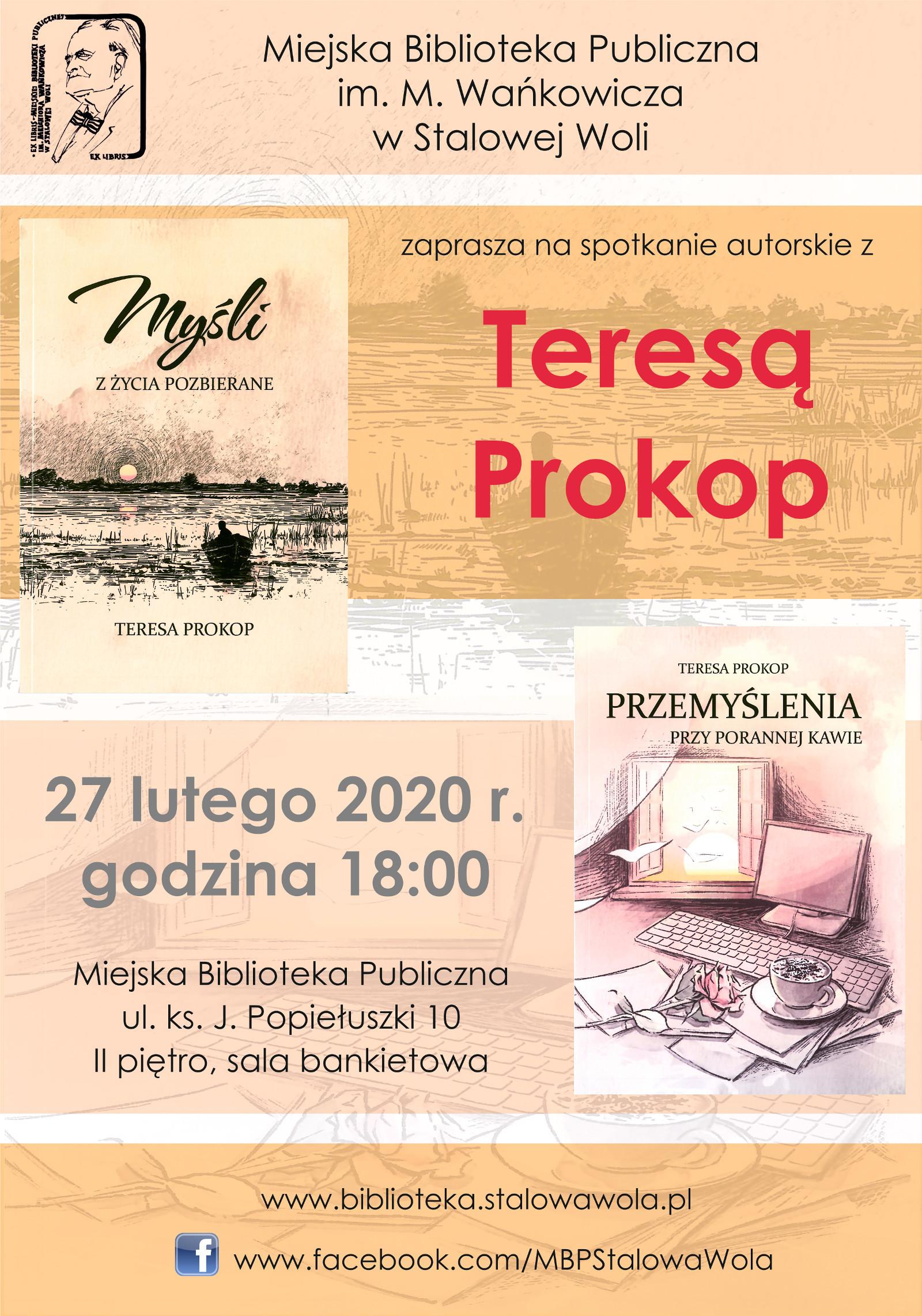 Wieczór z poezją Teresy Prokop