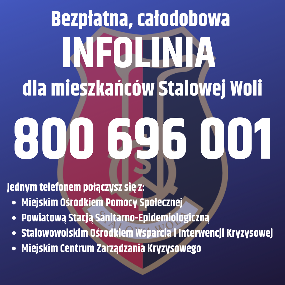 Bezpłatna całodobowa infolinia miasta Stalowej Woli