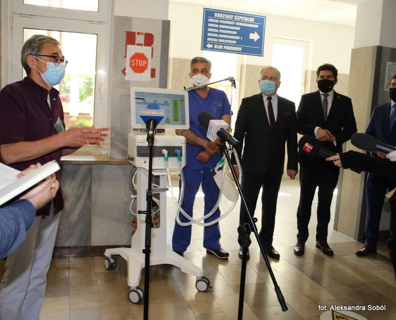 Nowy respirator trafił do szpitala