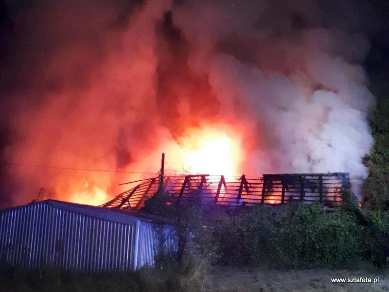 Nocny pożar w Rozwadowie