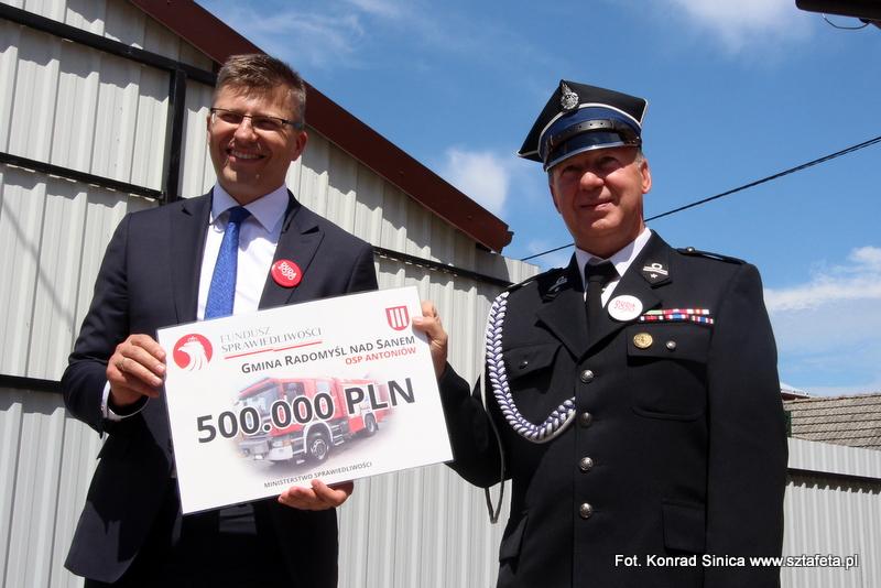 Pół miliona dla strażaków z Antoniowa