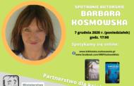 Spotkanie autorskie z Barbarą Kosmowską - online